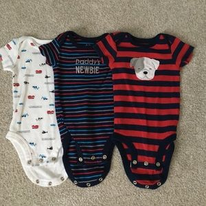 Carter's One Pieces - Bundle of boys onesies 0-3 mo size